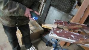Holzteil zuschneiden
