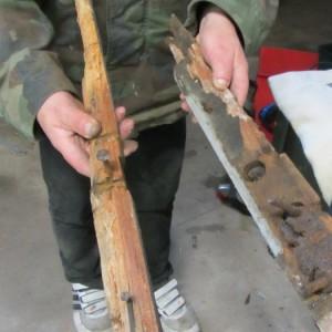 verrottete Holzteile